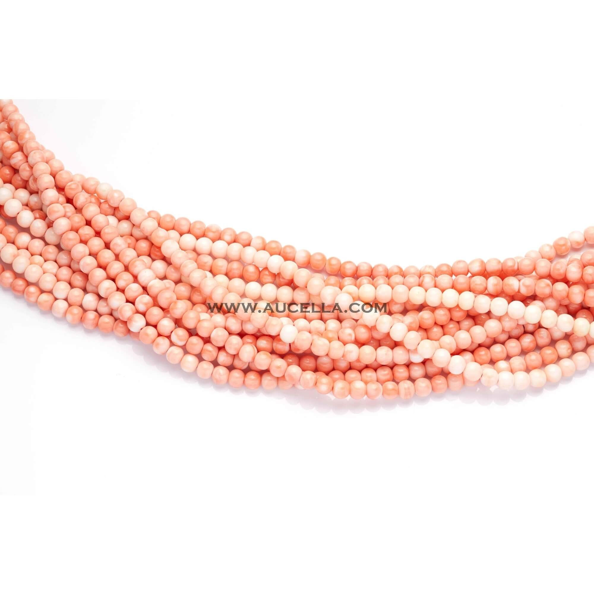 Natural pink coral beads shape size mm 6