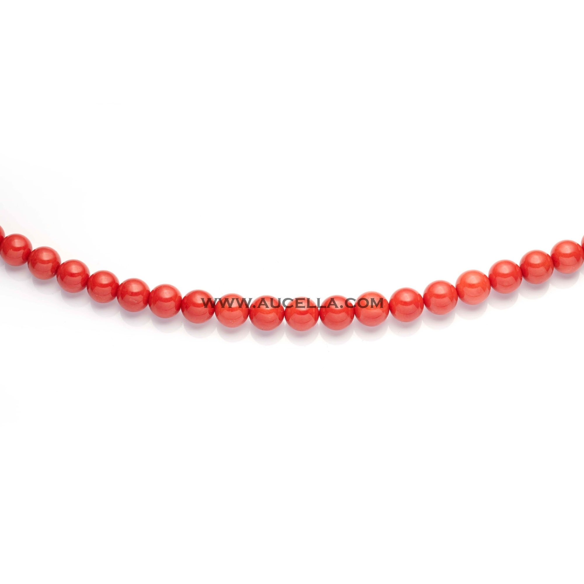 Natural red coral beads shape size mm 14