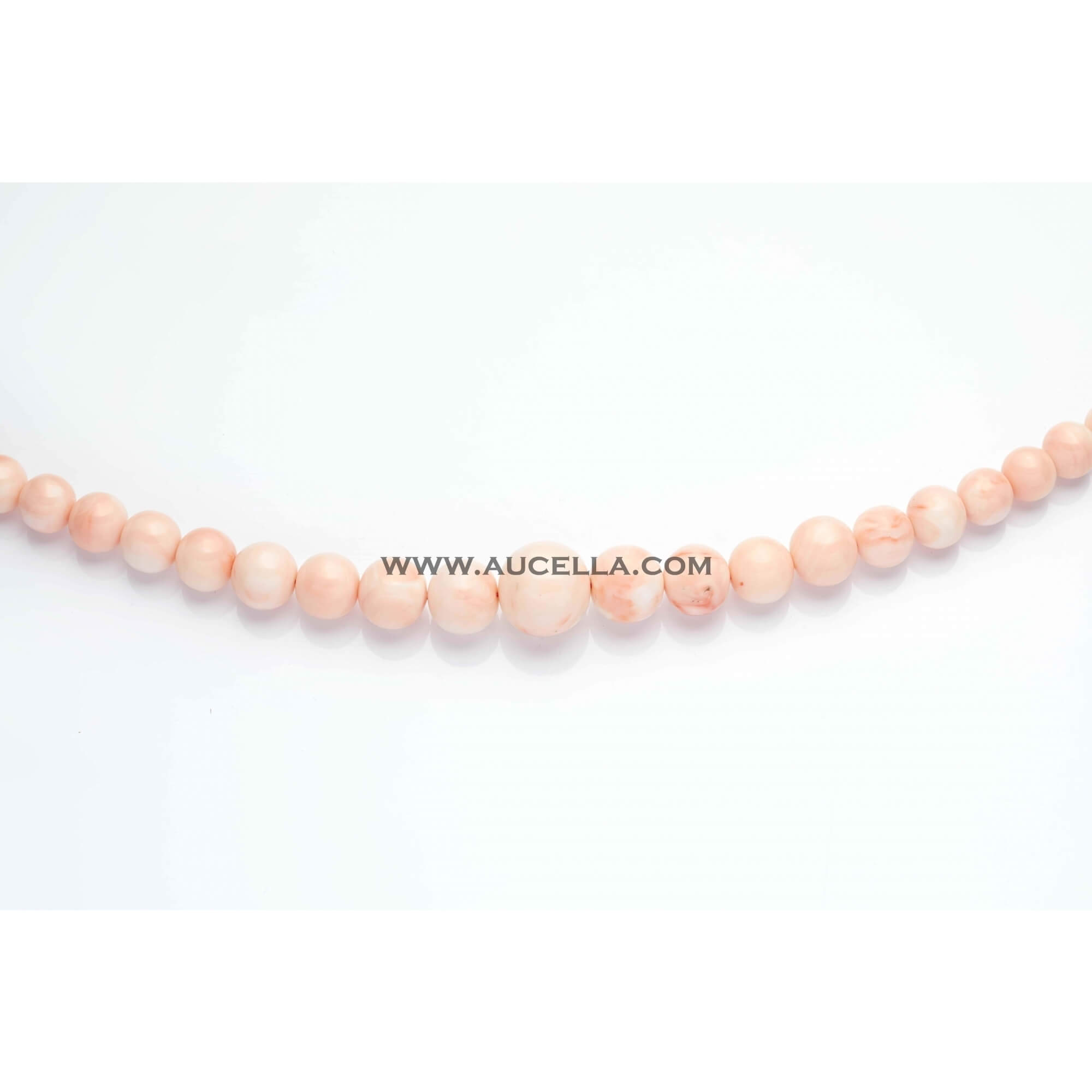 Natural pink coral beads shape graduated