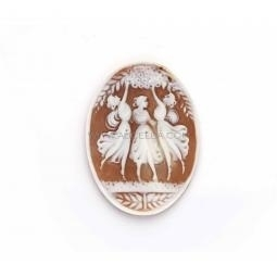 three graces on sardonyx cameo