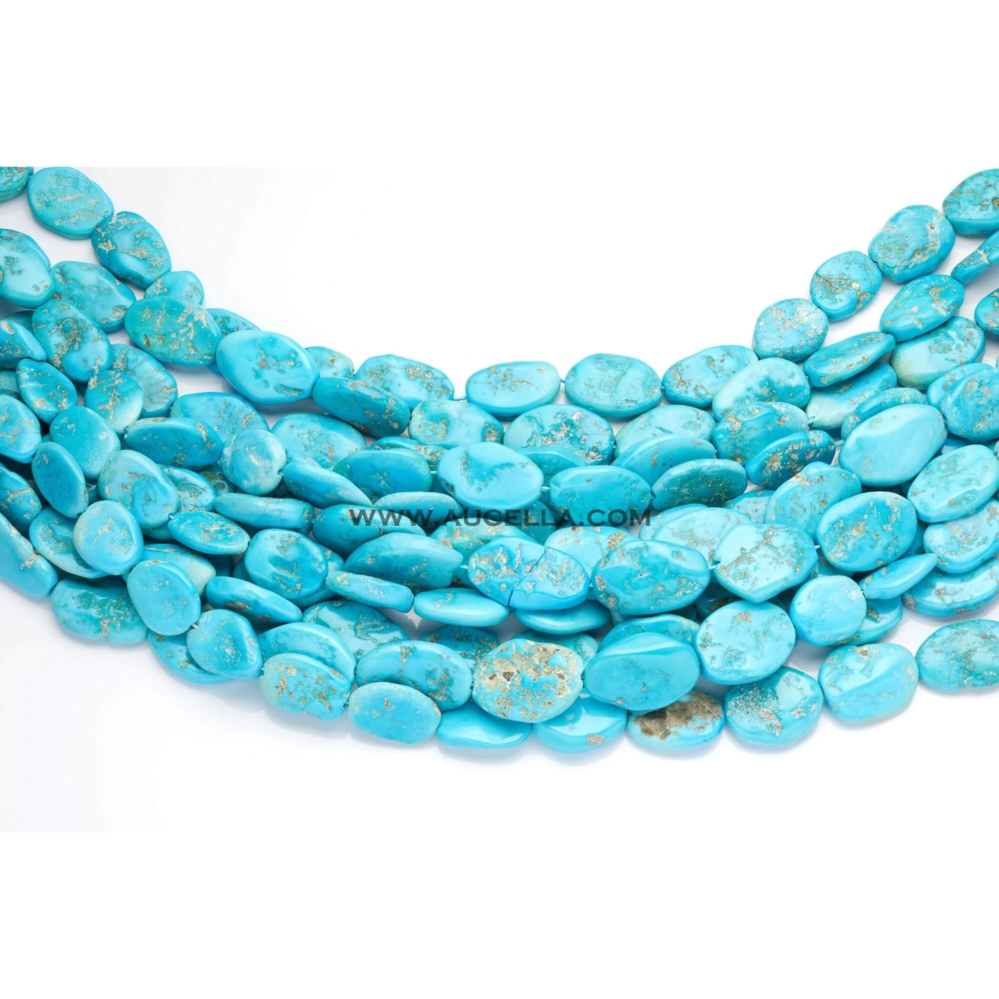 Arizona turquoise crushed nuggets shape