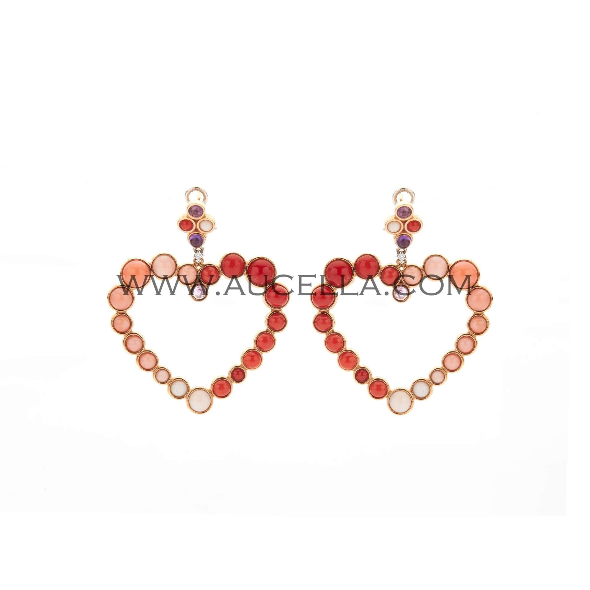 Earrings luxury heart model