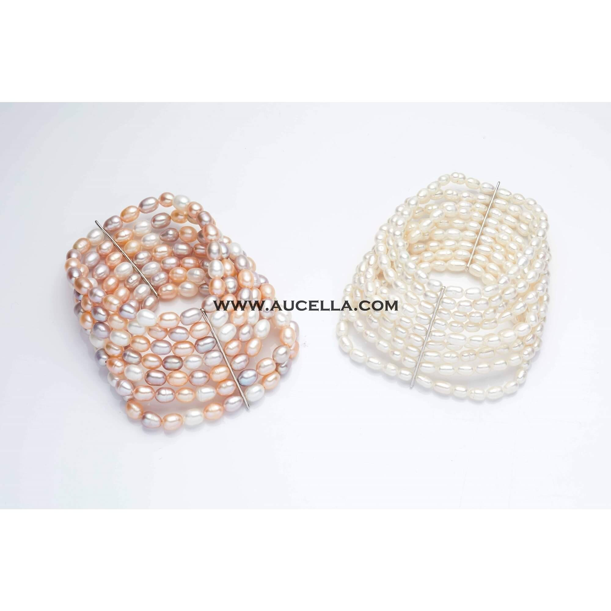 Fresh water pearls bracelets white and multicolor