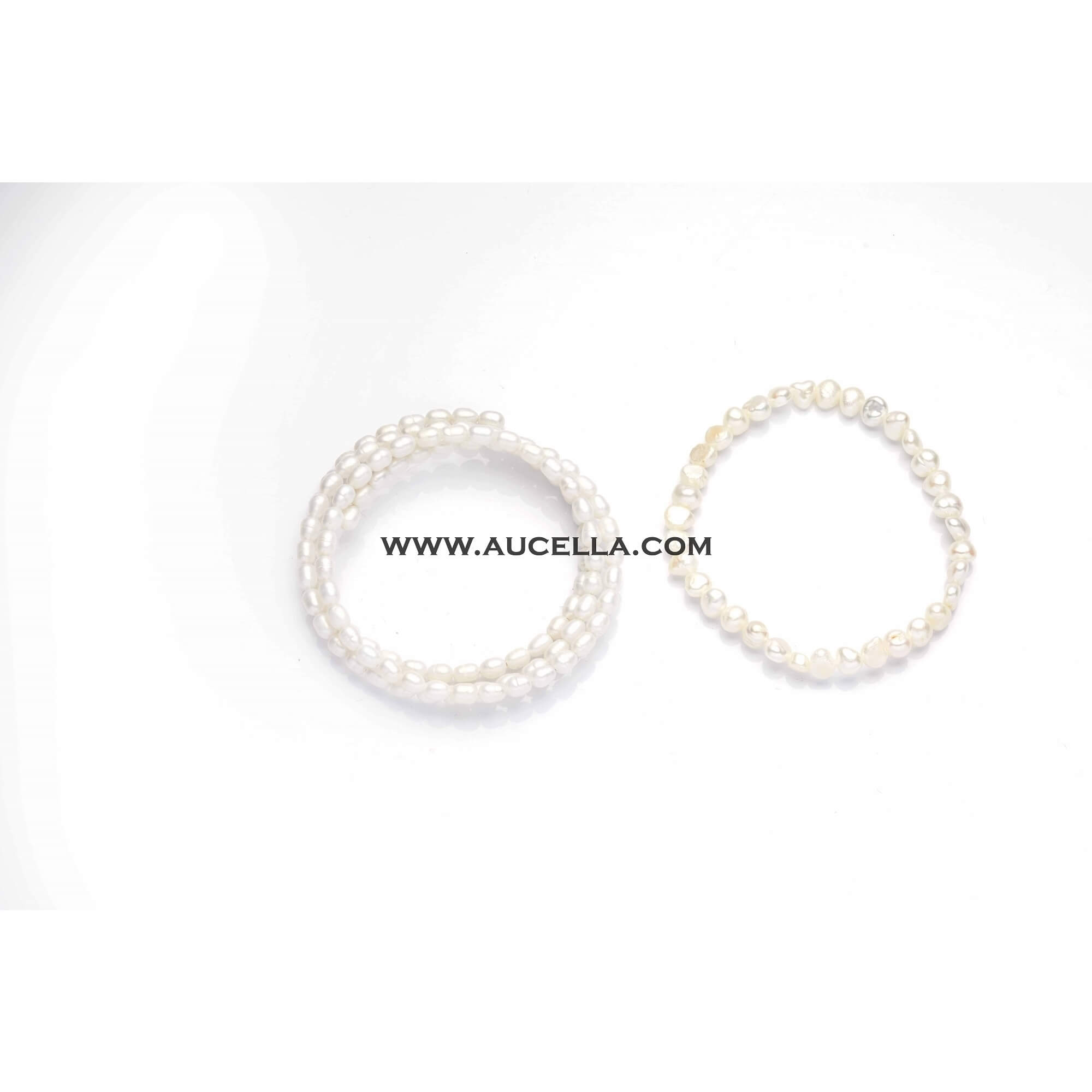 Fresh water pearls bracelets white color